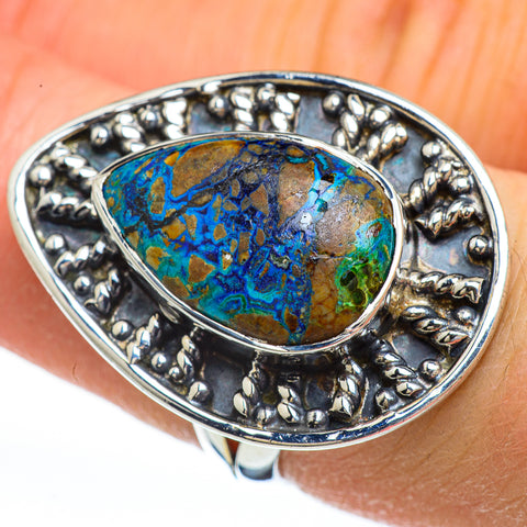 Azurite Rings handcrafted by Ana Silver Co - RING44843