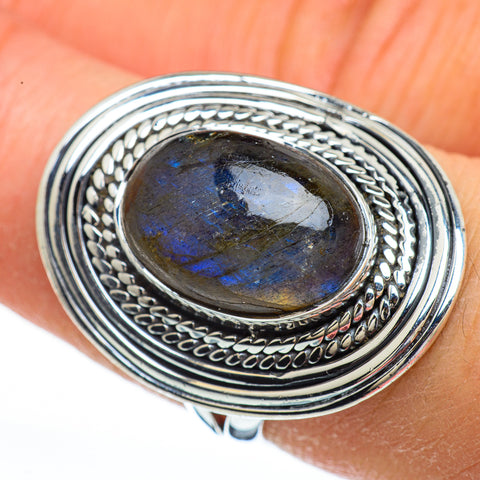 Labradorite Rings handcrafted by Ana Silver Co - RING44847