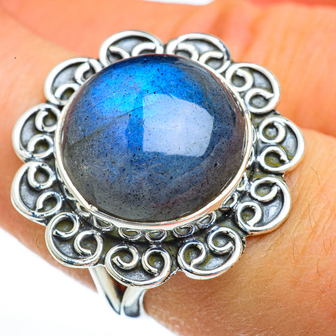 Labradorite Rings handcrafted by Ana Silver Co - RING44862