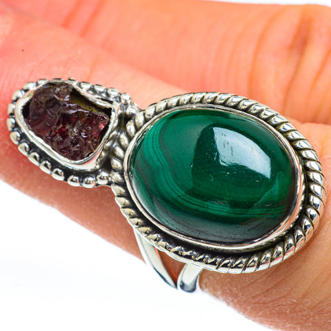 Malachite Rings handcrafted by Ana Silver Co - RING44930