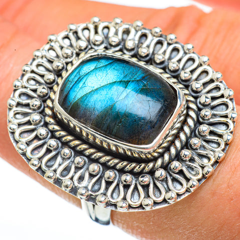 Labradorite Rings handcrafted by Ana Silver Co - RING44958