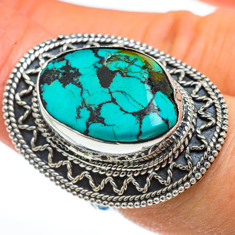 Tibetan Turquoise Rings handcrafted by Ana Silver Co - RING44961
