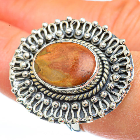 Petrified Wood Rings handcrafted by Ana Silver Co - RING44967