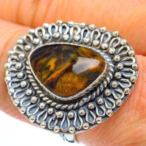 Golden Pietersite Rings handcrafted by Ana Silver Co - RING44969