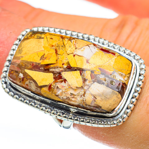 Brecciated Mookaite Rings handcrafted by Ana Silver Co - RING44976