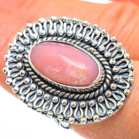 Pink Opal Rings handcrafted by Ana Silver Co - RING44977
