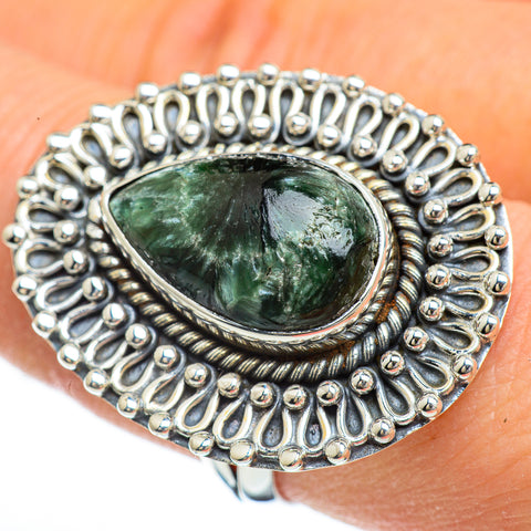 Seraphinite Rings handcrafted by Ana Silver Co - RING45002