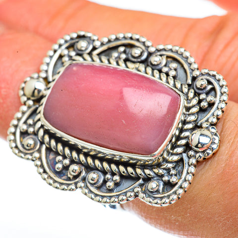 Pink Opal Rings handcrafted by Ana Silver Co - RING45018