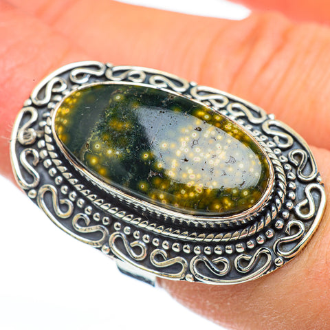 Ocean Jasper Rings handcrafted by Ana Silver Co - RING45072