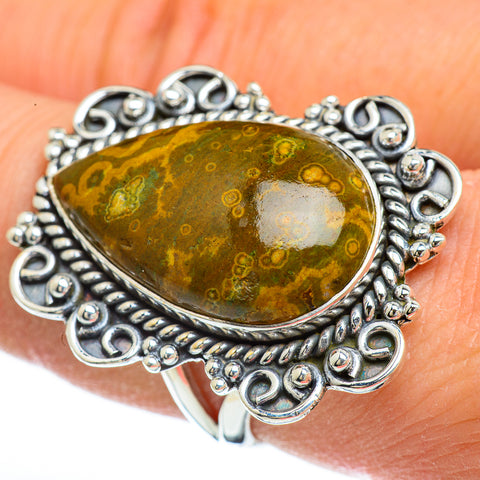 Ocean Jasper Rings handcrafted by Ana Silver Co - RING45075