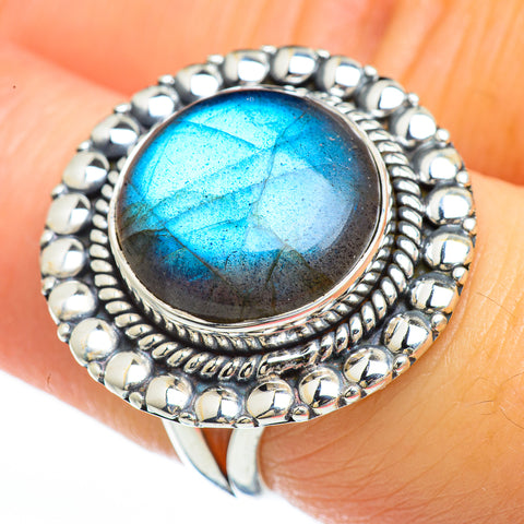 Labradorite Rings handcrafted by Ana Silver Co - RING45087