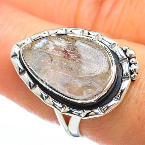 Rainbow Moonstone Rings handcrafted by Ana Silver Co - RING45139
