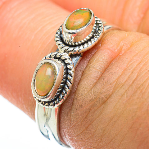 Ethiopian Opal Rings handcrafted by Ana Silver Co - RING45197