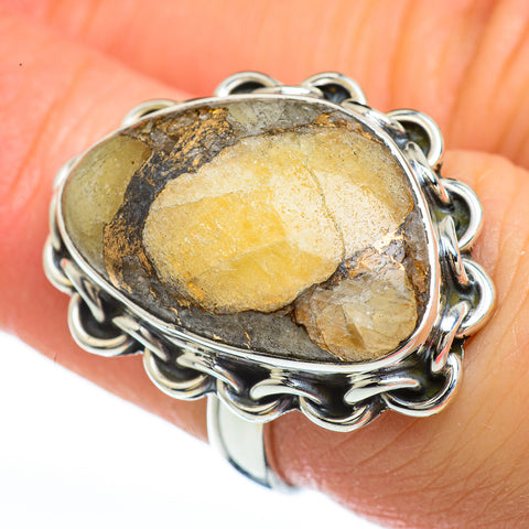 Copper Yellow Agate Rings handcrafted by Ana Silver Co - RING45210