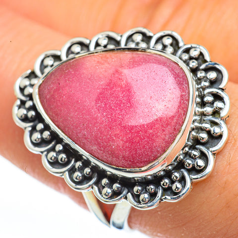 Rhodochrosite Rings handcrafted by Ana Silver Co - RING45213