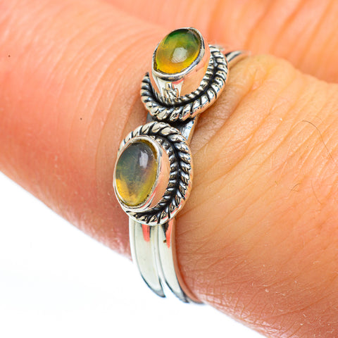 Ethiopian Opal Rings handcrafted by Ana Silver Co - RING45223