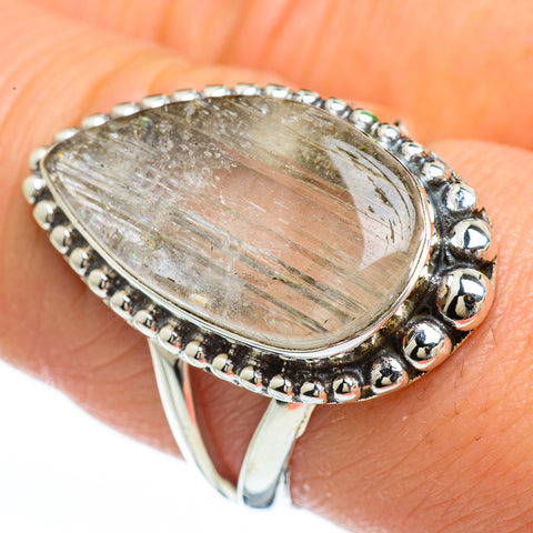 Rainbow Moonstone Rings handcrafted by Ana Silver Co - RING45288