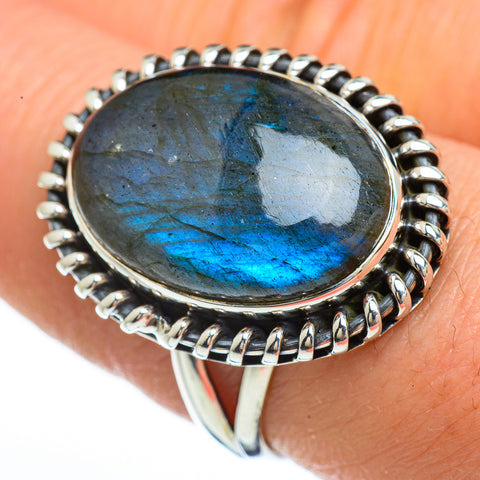Labradorite Rings handcrafted by Ana Silver Co - RING45330
