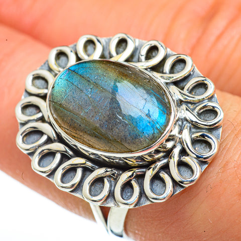 Labradorite Rings handcrafted by Ana Silver Co - RING45332
