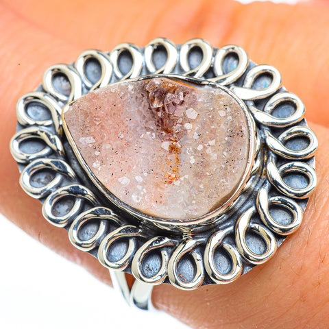 Desert Druzy Rings handcrafted by Ana Silver Co - RING45337