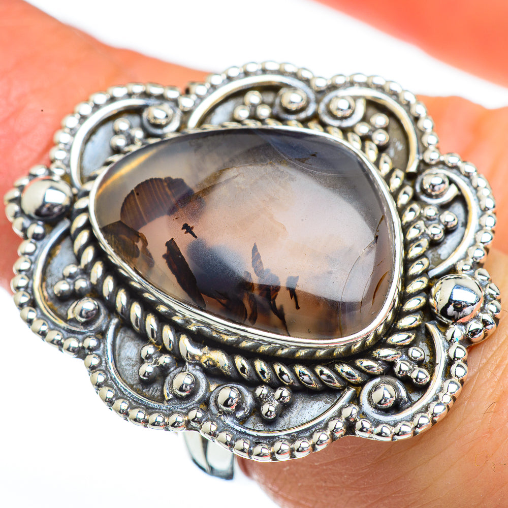 Montana Agate Rings handcrafted by Ana Silver Co - RING45363
