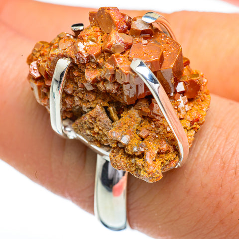 Vanadinite Rings handcrafted by Ana Silver Co - RING45389