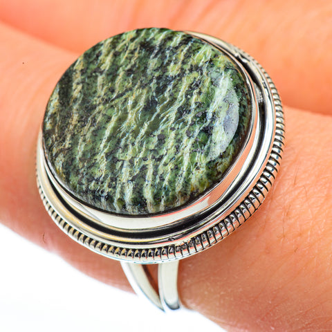 Lizard Jasper Rings handcrafted by Ana Silver Co - RING45413
