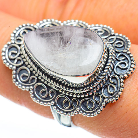 Rainbow Moonstone Rings handcrafted by Ana Silver Co - RING45424