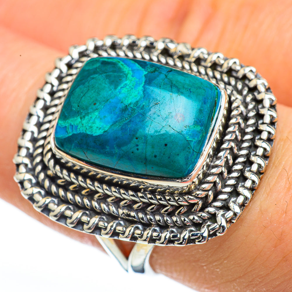 Chrysocolla Rings handcrafted by Ana Silver Co - RING45440