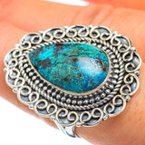 Chrysocolla Rings handcrafted by Ana Silver Co - RING45461