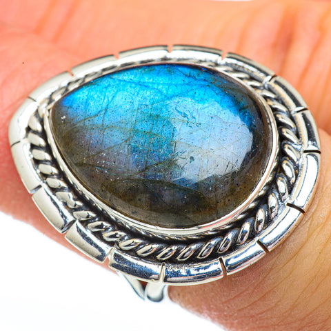 Labradorite Rings handcrafted by Ana Silver Co - RING45482
