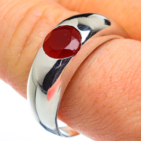 Red Onyx Rings handcrafted by Ana Silver Co - RING45498