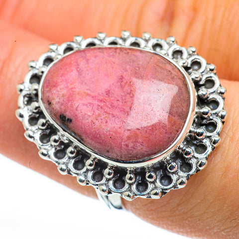 Rhodonite Rings handcrafted by Ana Silver Co - RING45526