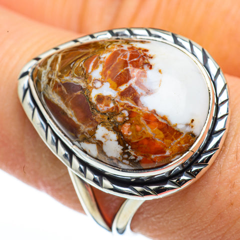 Peanut Wood Jasper Rings handcrafted by Ana Silver Co - RING45553