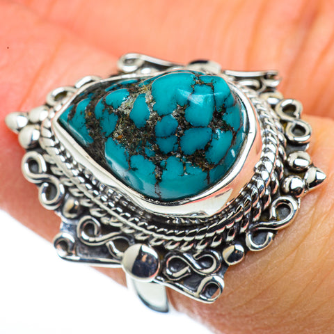 Tibetan Turquoise Rings handcrafted by Ana Silver Co - RING45625