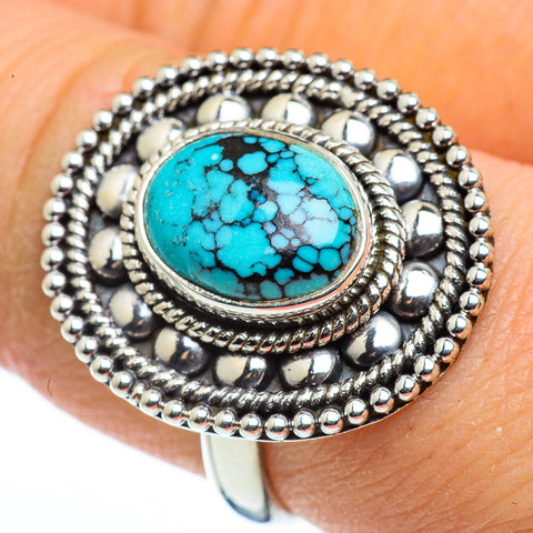 Tibetan Turquoise Rings handcrafted by Ana Silver Co - RING45647