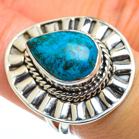 Chrysocolla Rings handcrafted by Ana Silver Co - RING45668