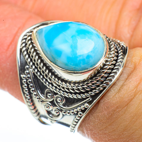 Larimar Rings handcrafted by Ana Silver Co - RING45686