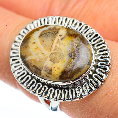 Petrified Wood Rings handcrafted by Ana Silver Co - RING45692