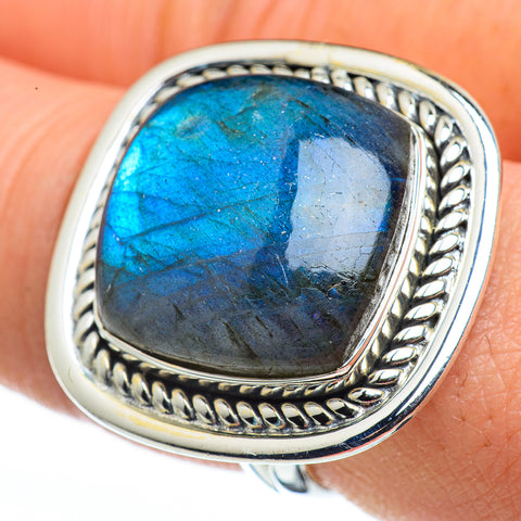 Labradorite Rings handcrafted by Ana Silver Co - RING45800