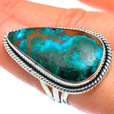 Chrysocolla Rings handcrafted by Ana Silver Co - RING45848