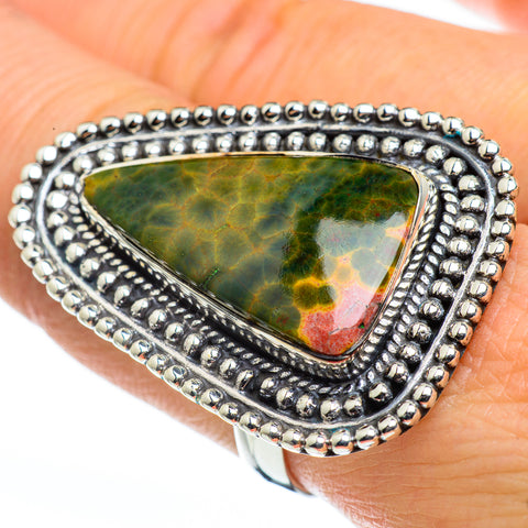 Ocean Jasper Rings handcrafted by Ana Silver Co - RING45850