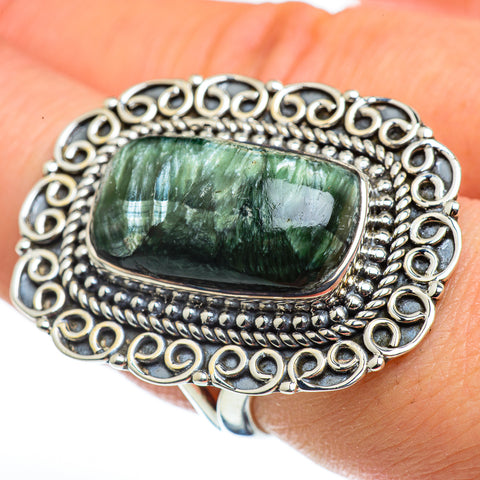 Serpahinite Rings handcrafted by Ana Silver Co - RING45877