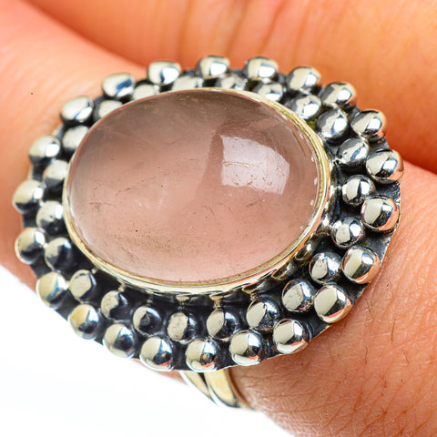 Rose Quartz Rings handcrafted by Ana Silver Co - RING45881