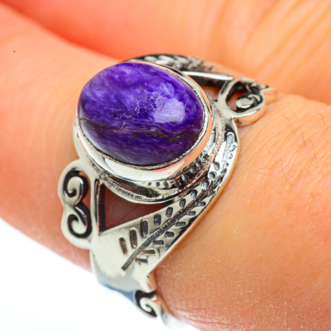 Charoite Rings handcrafted by Ana Silver Co - RING45902