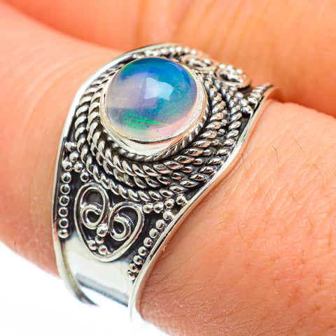 Ethiopian Opal Rings handcrafted by Ana Silver Co - RING45910