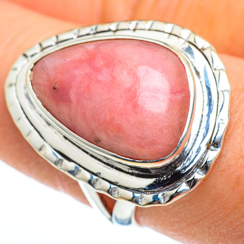 Pink Opal Rings handcrafted by Ana Silver Co - RING45927