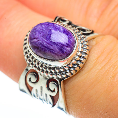 Charoite Rings handcrafted by Ana Silver Co - RING45930
