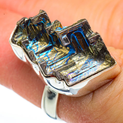 Bismuth Crystal Rings handcrafted by Ana Silver Co - RING45961