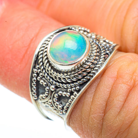 Ethiopian Opal Rings handcrafted by Ana Silver Co - RING45962